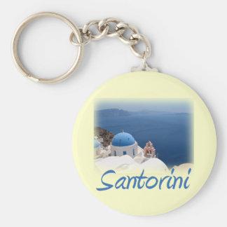 Santorini Basic Round Button Keychain