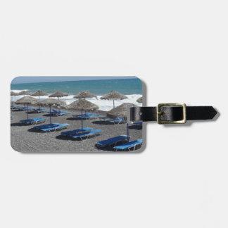 Santorini Beach, Greece Luggage Tag