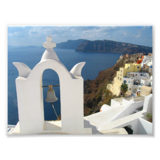 Santorini Bell Tower in the Afternoon Sun Photo Print