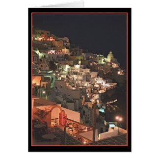 Santorini by night   (blank inside) card