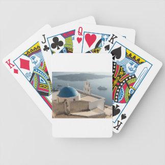 Santorini Church, Greece Bicycle Playing Cards