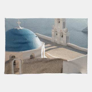 Santorini Church, Greece Kitchen Towel