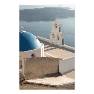 Santorini Church, Greece Personalized Stationery