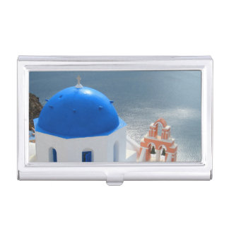 Santorini Church in the Afternoon Sun Business Card Holder