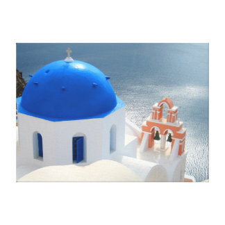 Santorini Church in the Afternoon Sun Canvas Print