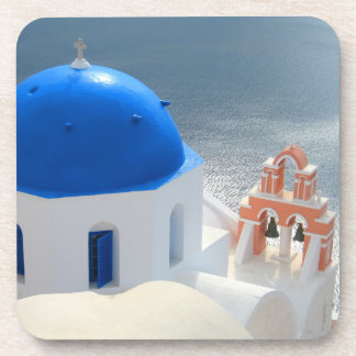 Santorini Church in the Afternoon Sun Coaster