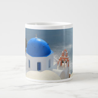 Santorini Church in the Afternoon Sun Large Coffee Mug