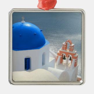 Santorini Church in the Afternoon Sun Metal Ornament