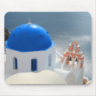 Santorini Church in the Afternoon Sun Mouse Pad