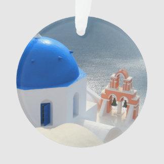 Santorini Church in the Afternoon Sun Ornament