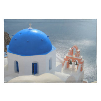 Santorini Church in the Afternoon Sun Placemat