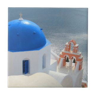 Santorini Church in the Afternoon Sun Tile