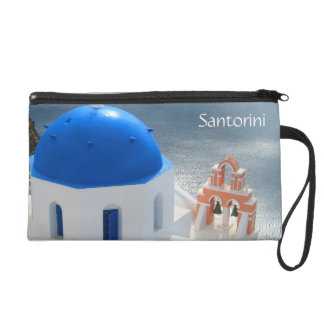 Santorini Church in the Afternoon Sun Wristlet