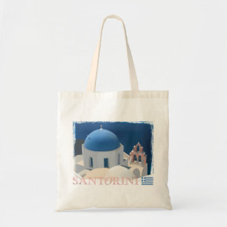 Santorini Church Tote Bag