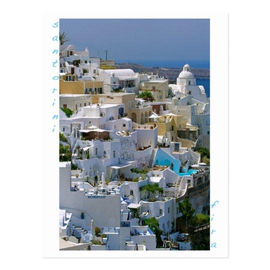 Santorini Fira Postcard