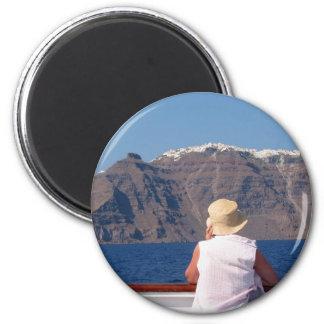 Santorini - Fridge Magnet