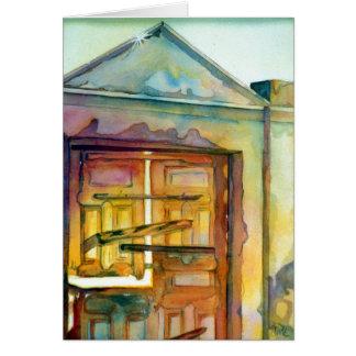 """Santorini Gate"" Greeting Card, envelopes included Card"
