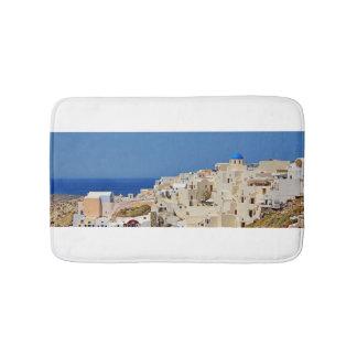 Santorini Greece and his architecture Bathroom Mat