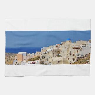 Santorini Greece and his architecture Kitchen Towel