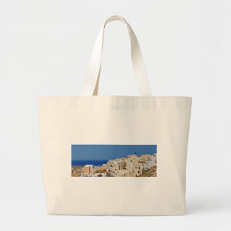 Santorini Greece and his architecture Large Tote Bag