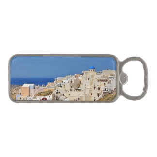 Santorini Greece and his architecture Magnetic Bottle Opener