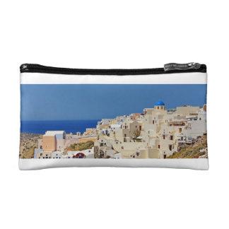 Santorini Greece and his architecture Makeup Bag