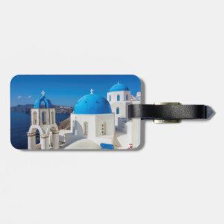 Santorini Greece Bag Tag