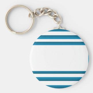 Santorini Greece Blue Design Basic Round Button Keychain