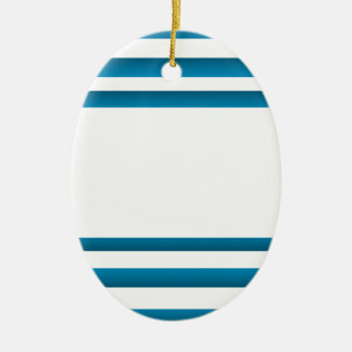 Santorini Greece Blue Design Ceramic Ornament