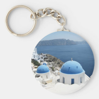 Santorini Greece Keychain