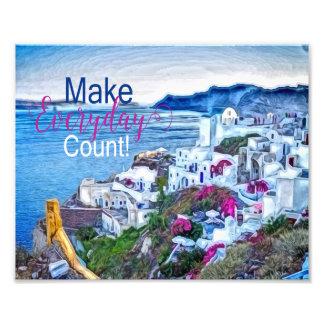 Santorini Greece Make Everyday Count Wall Art Art Photo