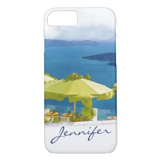 Santorini Greece Painting iPhone 7 Case