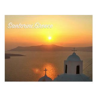 Santorini, Greece Sunset Postcard