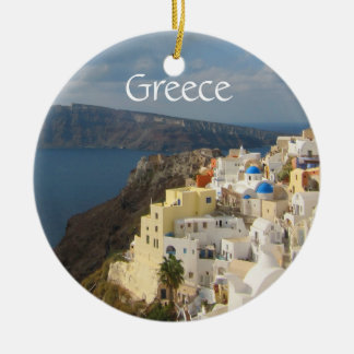 Santorini in the Afternoon Sun Ceramic Ornament