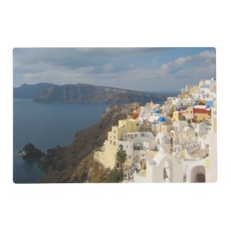 Santorini in the Afternoon Sun Laminated Place Mat