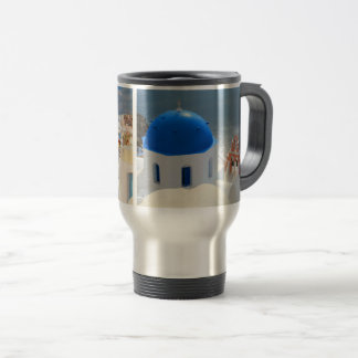 Santorini in the Afternoon Sun Travel Mug