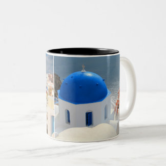 Santorini in the Afternoon Sun Two-Tone Coffee Mug