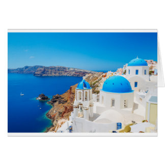 Santorini Island - Caldera, Greece Card