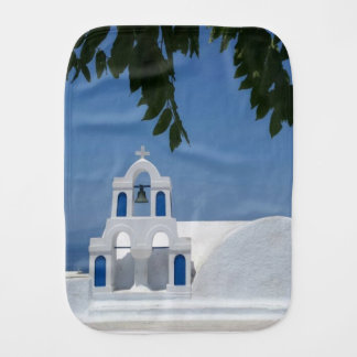Santorini Island Greece Burp Cloth
