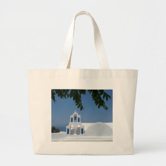 Santorini Island Greece Large Tote Bag