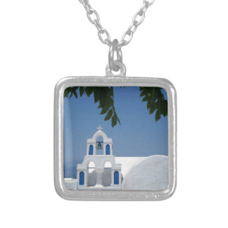 Santorini Island Greece Silver Plated Necklace