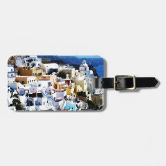 Santorini Island in Greece PHOTO Bag Tag