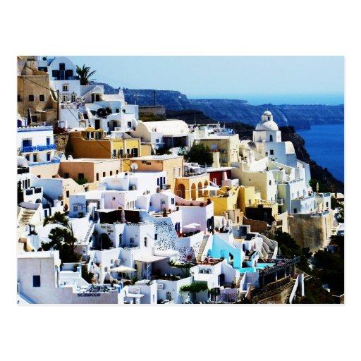 Santorini Island in Greece PHOTO Postcard