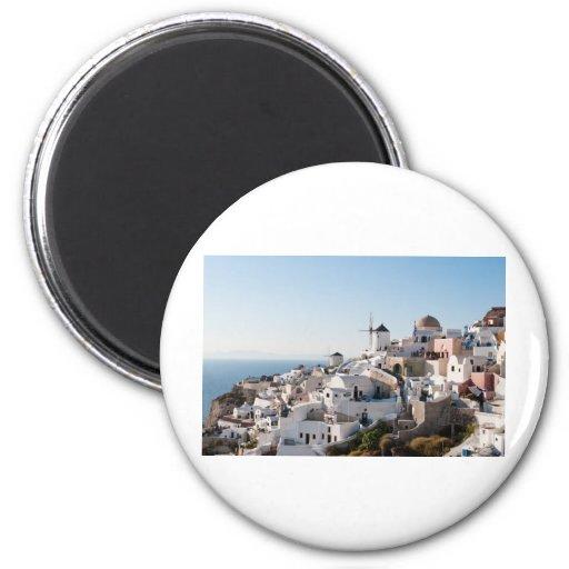 Santorini Fridge Magnet
