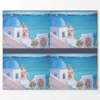 "Santorini - Matte Wrapping Paper, 30"" x 6'"