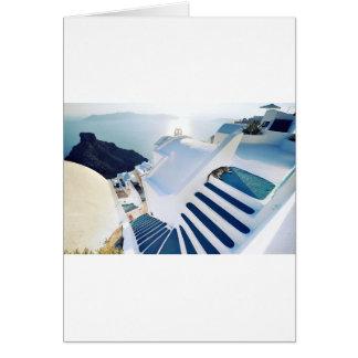 Santorini Oia Steps, Greece Card