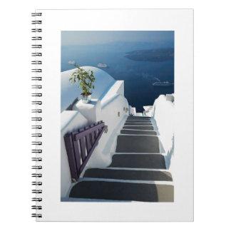 Santorini Oia Steps, Greece Notebooks