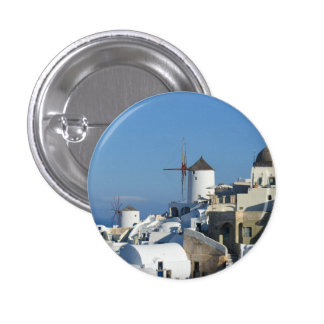 Santorini Oia Windmill Badge / Button
