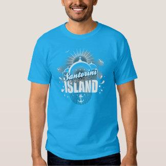 Santorini Paradise Island design Tee Shirts