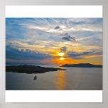 Santorini Sunset 2 Canvas Print